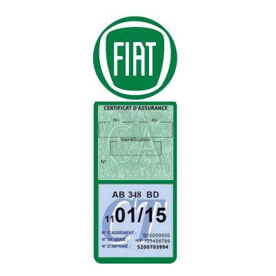 Fiat logo étui assurance auto