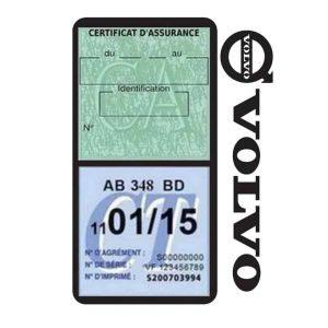 Pochette VOLVO double étui assurance voiture noir