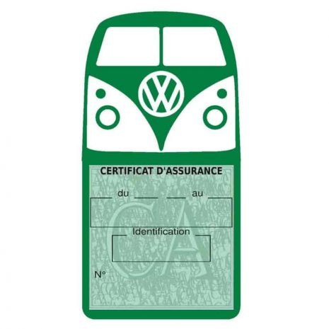 Vignette assurance Volkswagen Kombi T1 Split vert foncé