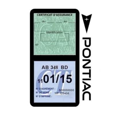 PONTIAC étui vignette assurance voiture noir