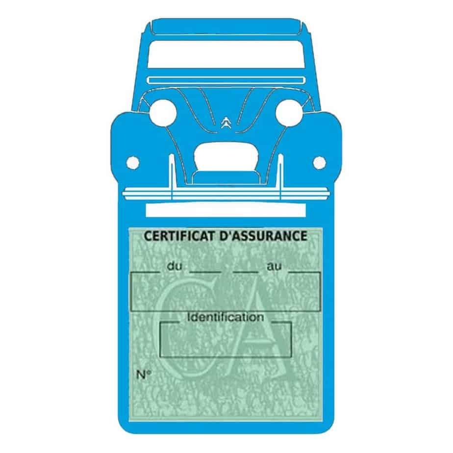 2CV Citroën vignette assurance voiture bleu clair