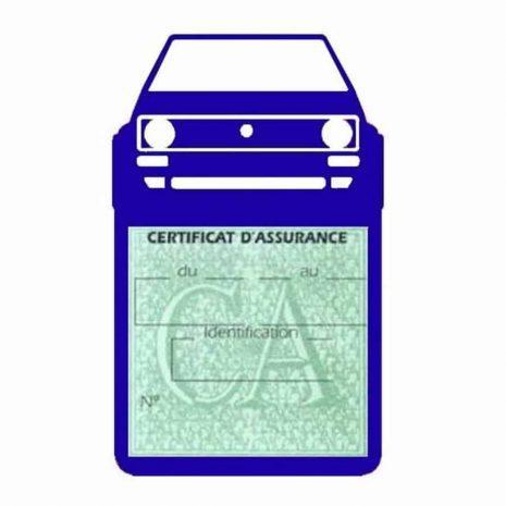 Porte vignette voiture Golf1 Volkswagen bleu foncé