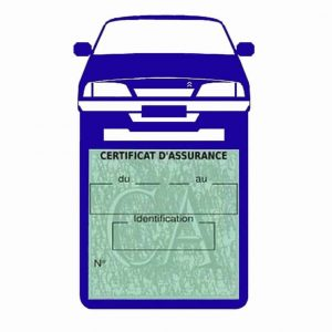 AX CITROEN vignette assurance voiture bleu foncé