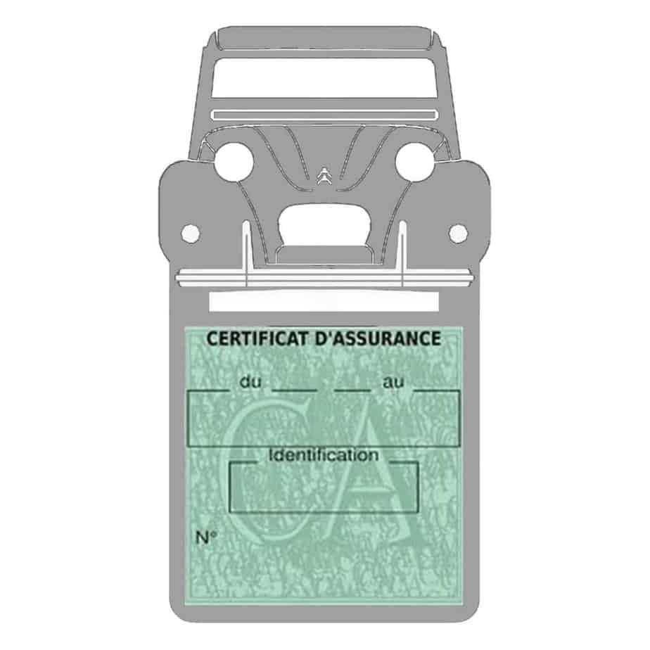 2CV Citroën vignette assurance voiture gris