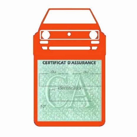 Porte vignette voiture Golf1 Volkswagen orange