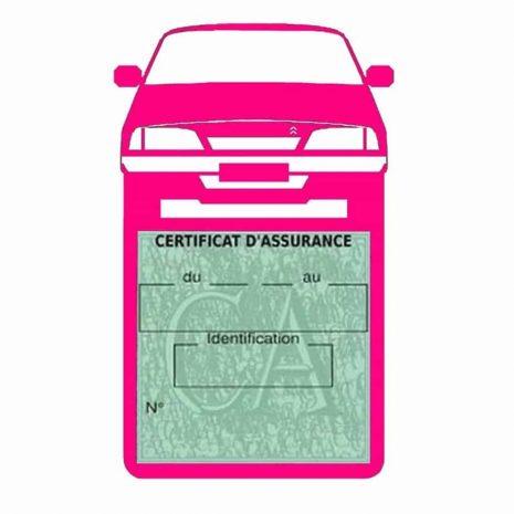 AX CITROEN vignette assurance voiture rose
