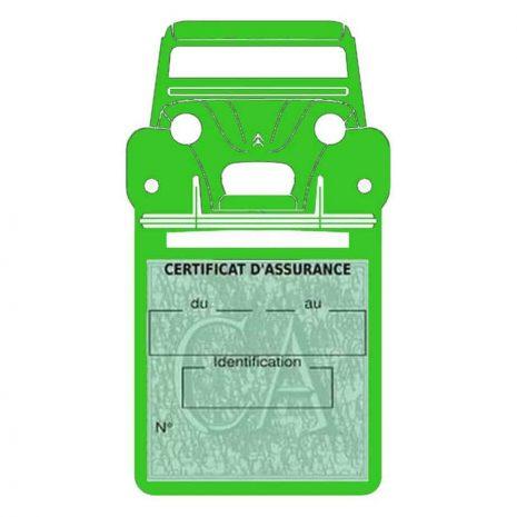 2CV Citroën vignette assurance voiture vert clair