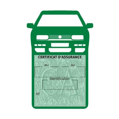 Golf 3 vignette assurance voiture Volkswagen vert foncé