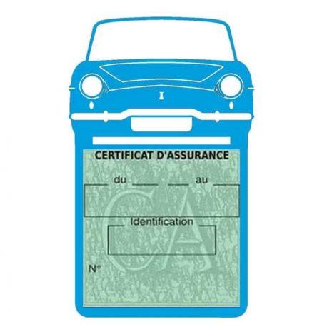 RENAULT CARAVELLE pochette assurance voiture bleu clair