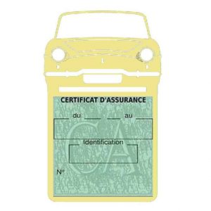 RENAULT CARAVELLE pochette assurance voiture beige