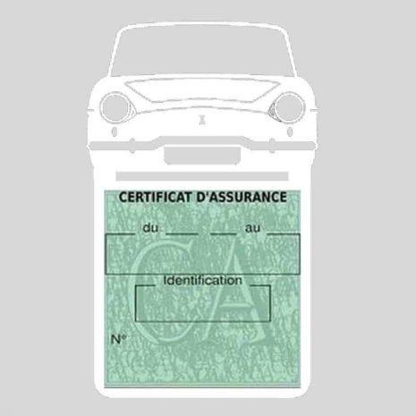 RENAULT CARAVELLE pochette assurance voiture blanc