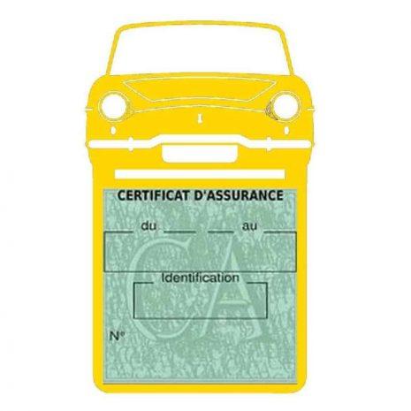 RENAULT CARAVELLE pochette assurance voiture jaune