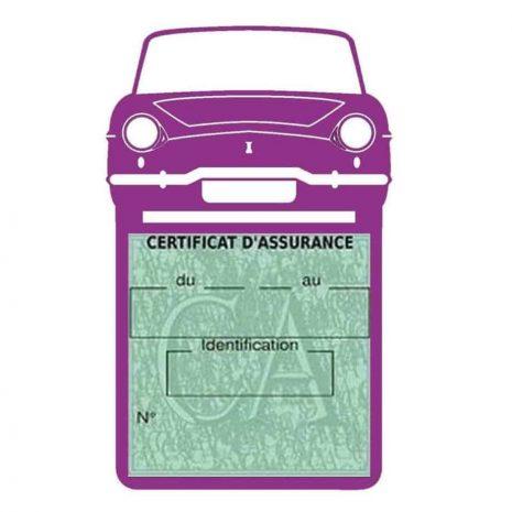 RENAULT CARAVELLE pochette assurance voiture mauve