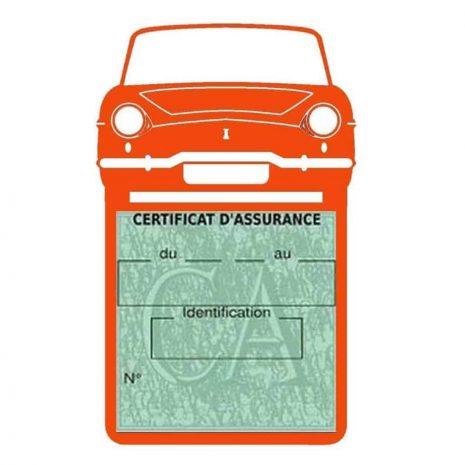 RENAULT CARAVELLE pochette assurance voiture orange