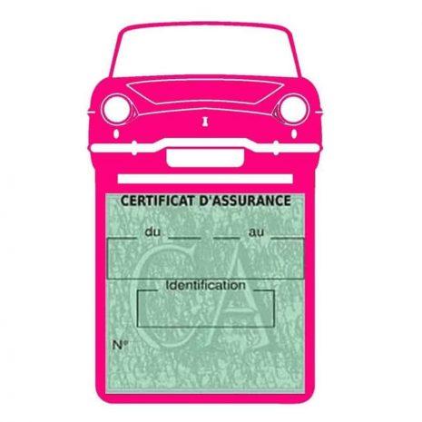 RENAULT CARAVELLE pochette assurance voiture rose