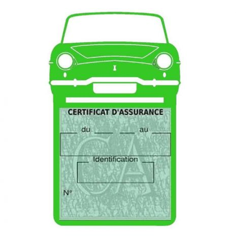 RENAULT CARAVELLE pochette assurance voiture vert clair