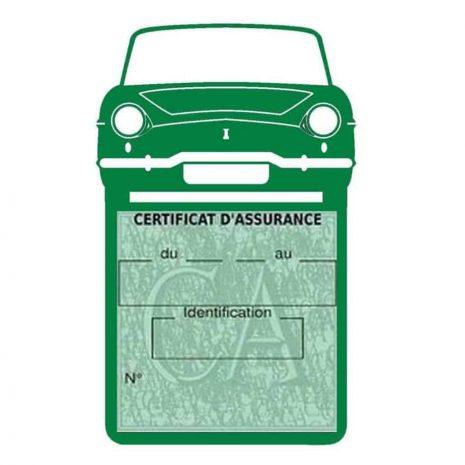 RENAULT CARAVELLE pochette assurance voiture vert foncé