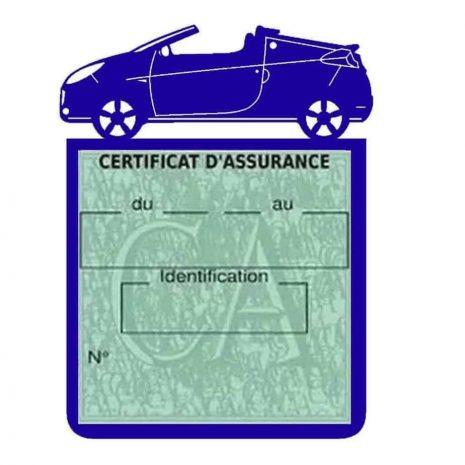WIND RENAULT étui assurance voiture bleu foncé