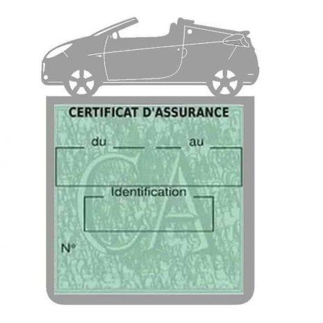 WIND RENAULT étui assurance voiture gris