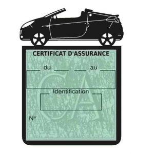 WIND RENAULT étui assurance voiture noir