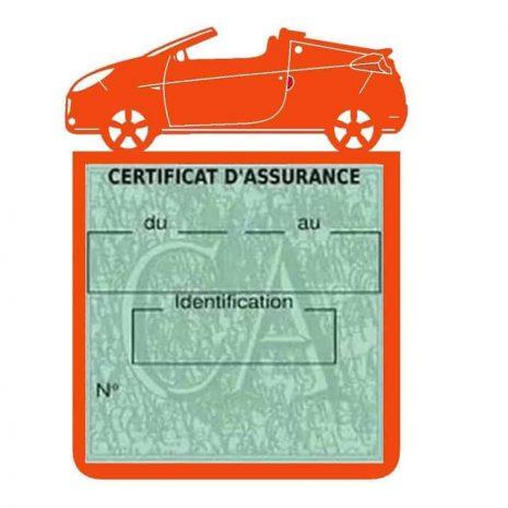 WIND RENAULT étui assurance voiture orange