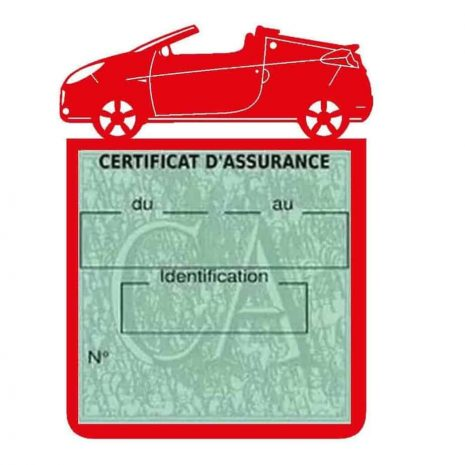 WIND RENAULT étui assurance voiture rouge