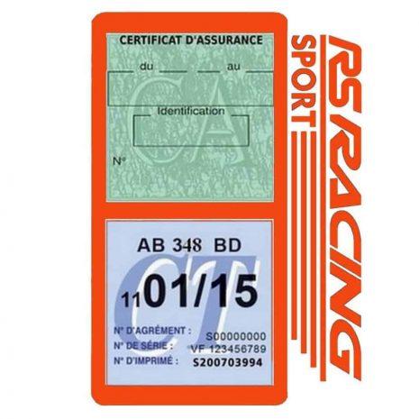 RS Racing Sport Vignette assurance voiture orange