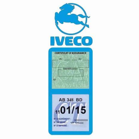 IVECO Vignette Assurance Poids Lourds bleu clair