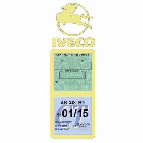 IVECO Vignette Assurance Poids Lourds beige
