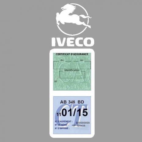 IVECO Vignette Assurance Poids Lourds blanc