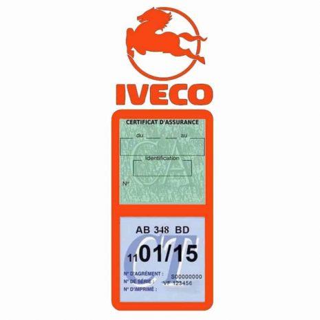 IVECO Vignette Assurance Poids Lourds orange