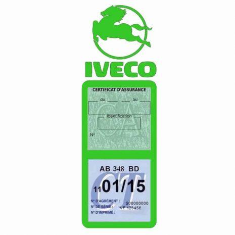 IVECO Vignette Assurance Poids Lourds vert clair