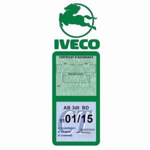 IVECO Vignette Assurance Poids Lourds vert foncé
