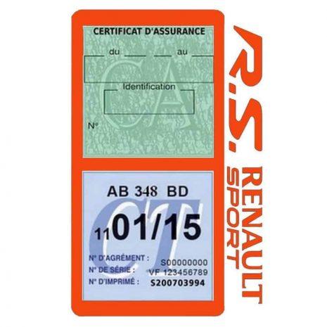R.S Renault Sport Vignette assurance voiture orange