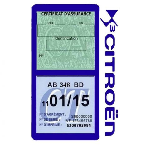 DS3 CITROEN vignette assurance voiture méga bleu foncé