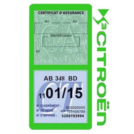 DS3 CITROEN vignette assurance voiture méga vert clair