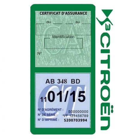 DS3 CITROEN vignette assurance voiture méga vert foncé
