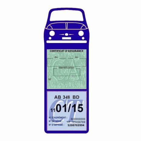 FIAT 500 Porte Vignette Assurance Voiture bleu foncé