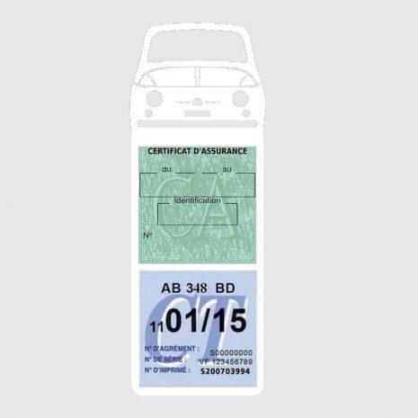 FIAT 500 Porte Vignette Assurance Voiture Méga blanc
