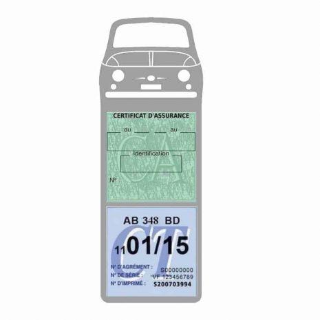 FIAT 500 Porte Vignette Assurance Voiture gris