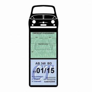 FIAT 500 Porte Vignette Assurance Voiture Méga