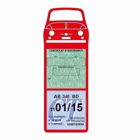 FIAT 500 Porte Vignette Assurance Voiture Méga rouge