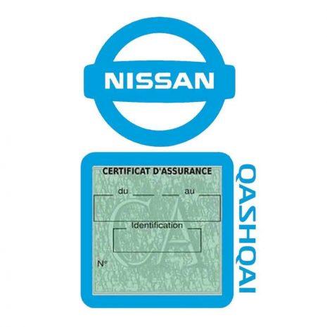 QASHQAI NISSAN bleu clair support assurance voiture simple pochette adhésif Stickers auto rétro