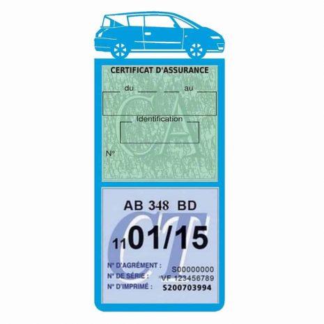 AVANTIME RENAULT Etui assurance voiture méga pochette bleu clair