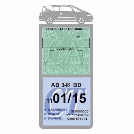 AVANTIME RENAULT Etui assurance voiture méga pochette gris