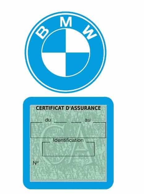BMW pochette étui assurance voiture moins 4 Ans bleu clair