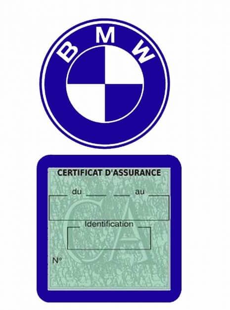 BMW pochette étui assurance voiture moins 4 Ans bleu foncé