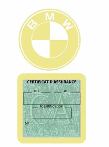 BMW pochette étui assurance voiture moins 4 Ans beige