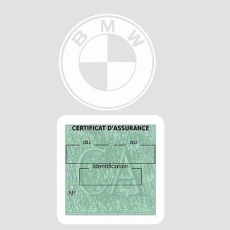 BMW pochette étui assurance voiture moins 4 Ans blanc