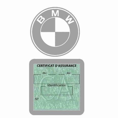 BMW pochette étui assurance voiture moins 4 Ans gris